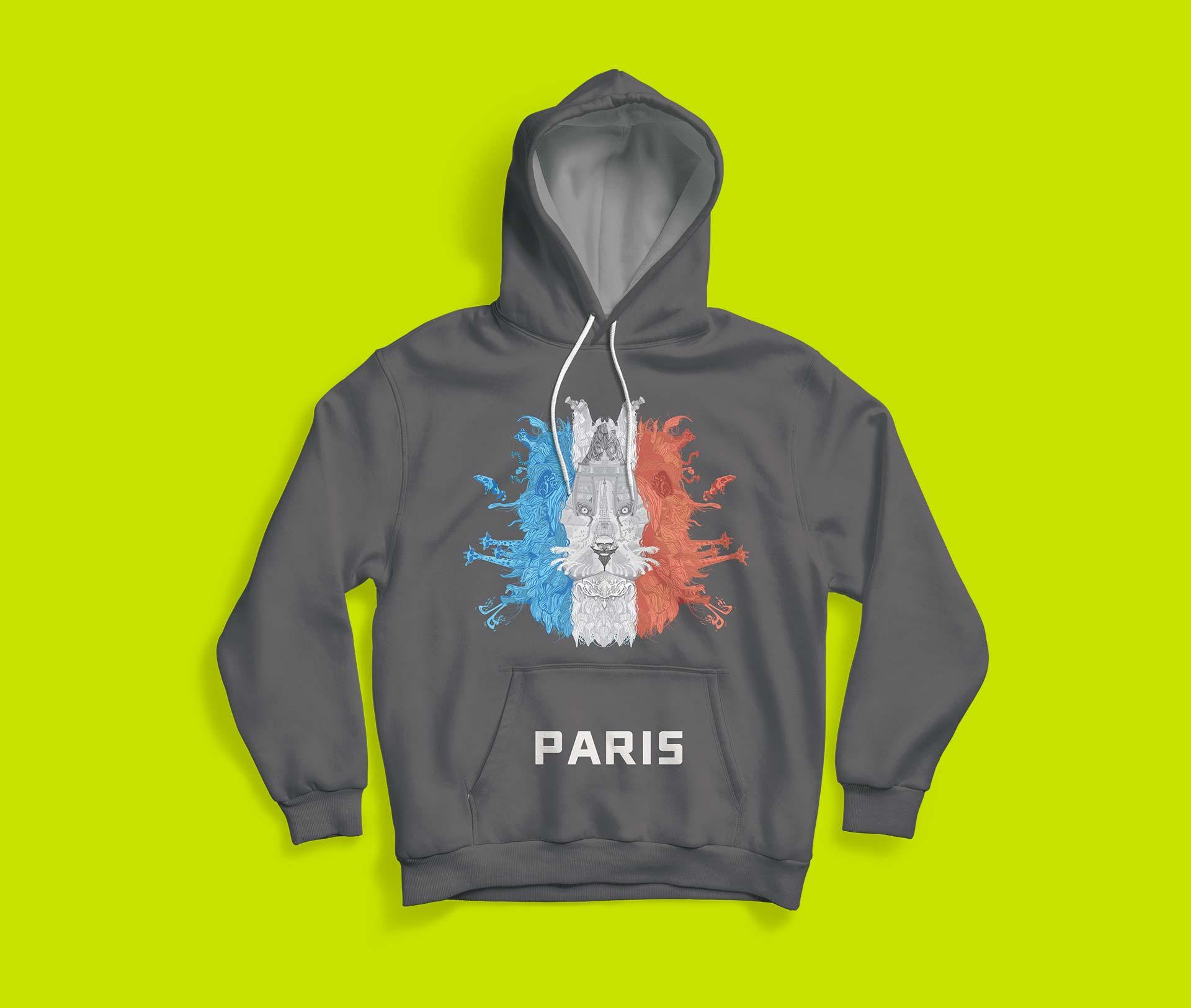 lion-head-paris-landmark-illustration-hoodie