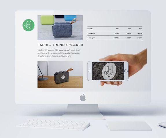 promotional merchandise presentation design
