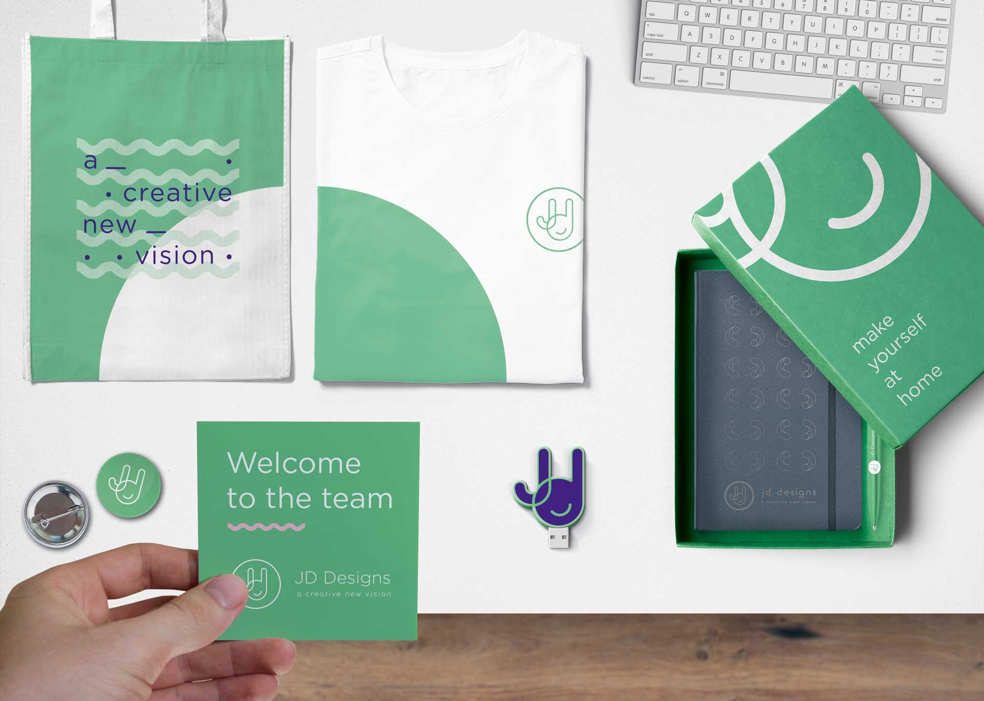 promotional merchandise onboarding kit design